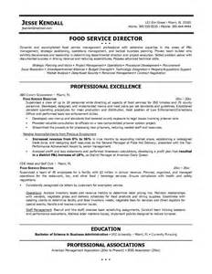 Exles Of Food Service Resumes by Exle Food Service Director Resume Sle