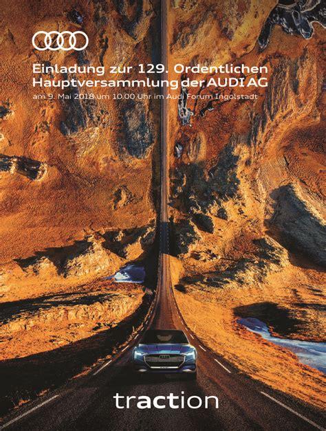 Audi Hauptversammlung by 129 Ordentliche Hauptversammlung Der Audi Ag 9 Mai 2018