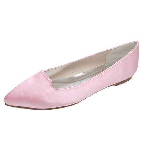 ballet flats comfortable walking pointed toe simple style flats woman shoes for bridal