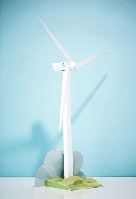 Windmill Papercraft - powering renewable energy gif by general electric find