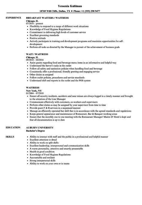 download waiter resume sample ajrhinestonejewelry com