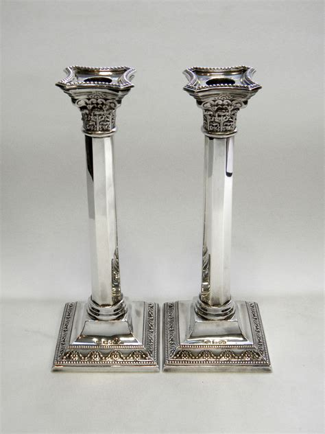 Silver Candle Stand Pair Vintage Silver Candlesticks Candle Holders