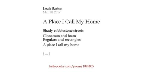 finding a place to call home poems and thoughts on belonging and coping with books a place i call my home by barton hello poetry