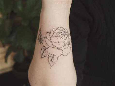 outer wrist tattoo 18 best peony flower designs images on