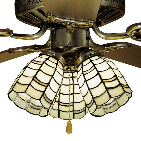 Light Shades For Ceiling Fans Meyda 27479 Sea Scallop Fan Light Shade