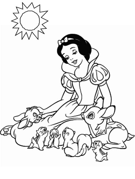 Snow White Coloring Page free printable snow white princess coloring pages kentscraft