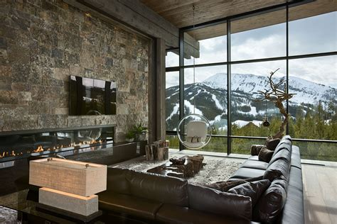 Mountain Home Interior Design by Remote Mountain Chalet With Luxury Inside And Outside