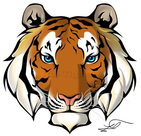 tattoo tiger cartoon tiger face png awesome color clipart panda free
