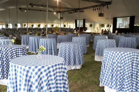 blue/white checkered table cloths   Wedding Ideas