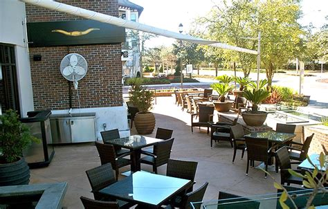 Outdoor Patio Lounge Design of III Forks Steakhouse and