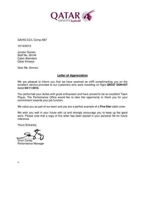 letter appreciation nov