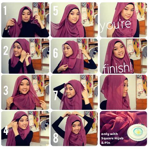 tutorial hijab paris elegant tutorial hijab segi empat tanpa ciput www imgkid com
