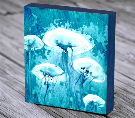 jellyfish home decor submited images jellyfish watercolor wall art print nautical sea life