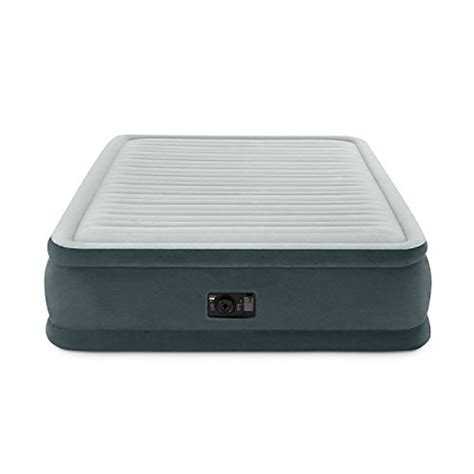 intex comfort intex comfort plush elevated dura beam airbed bed height