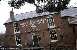 crooked houses sink a pint at the crooked house britain s drunkest pub appears to be subsiding daily