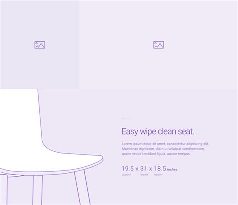 product section download the free divi wireframe single static product