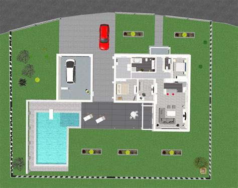 Danwood Haus Mit Garage by 3d Ansicht Bungalow Danwood Mit Pool U Garage