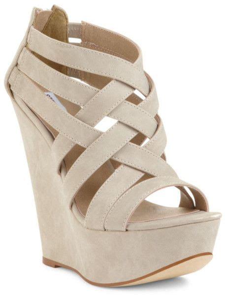 bone colored sandals s white xcess platform wedge sandals i got