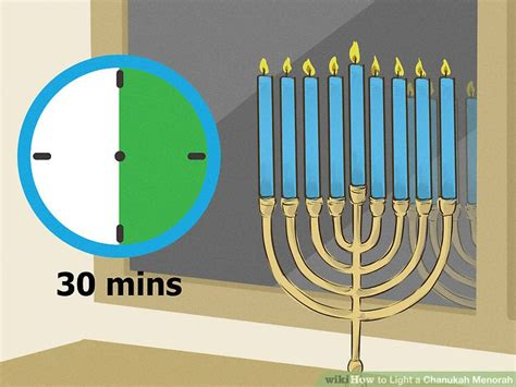 when to light menorah how to light a chanukah menorah 15 steps with pictures