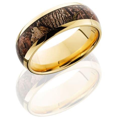 14 carat gold camo ring woodland shadow camouflage inlay