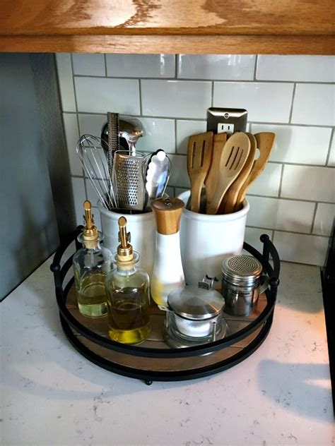 organizing the kitchen counter inspiration for