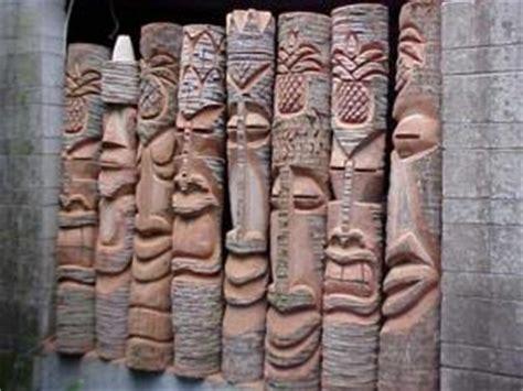 hand carved florida palm tree tiki statues