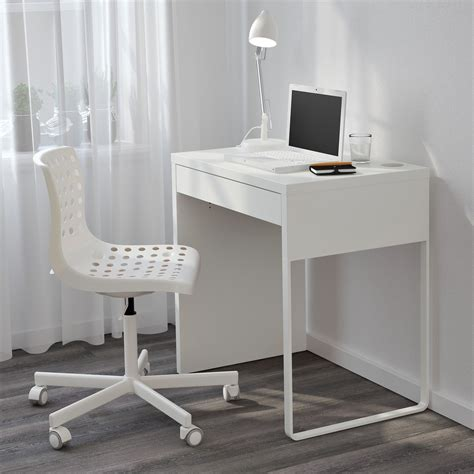 Narrow Computer Desks For Small Spaces Minimalist Desk White Small Desks