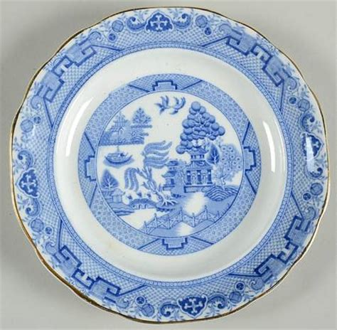 willow pattern with gold trim sson hancock sons willow blue gold trim at