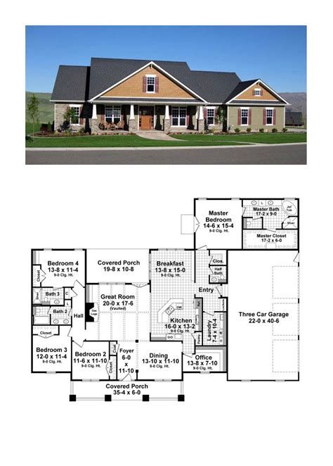 4 bedroom craftsman house plans cottage country craftsman house plan 59947 house plans