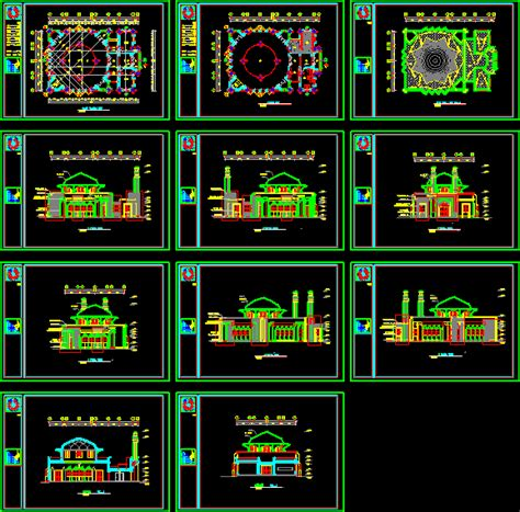 design masjid autocad mosque in iran 63366 autocad projects projects dwg