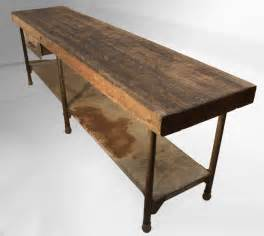 kitchen work table island large early industrial work table kitchen island table at 1stdibs