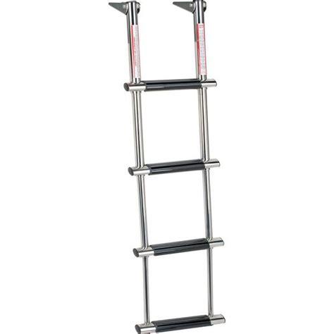 boat ladder west marine west marine stainless steel 4 step wide step telescoping
