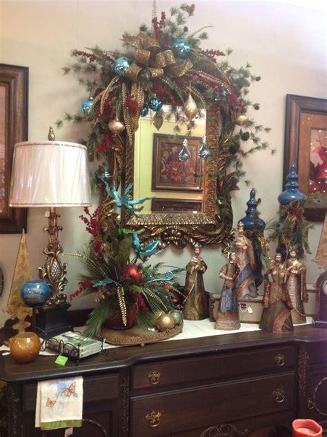 christmas themes with tone buffet in jewel tone christmas room christmas decor