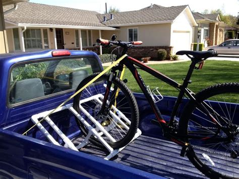 truck bed bike rack diy truckbed pvc bike rack