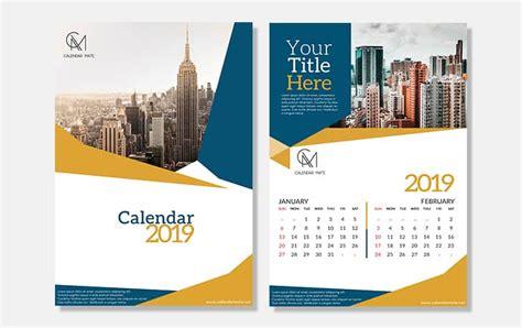 Aria Creative Calendar Design Template Free Psd File Complete 2019 Creative Calendar Template