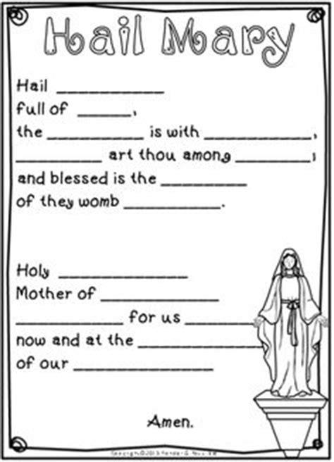 understanding the lord s prayer worksheet amarilis prayers on hail teresa and prayer