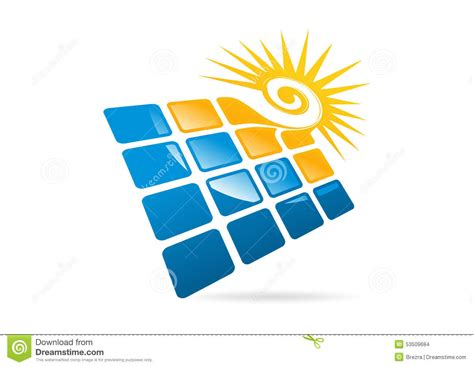 s mbolo cuadrado los paneles solares logotipo sol del remolino e icono