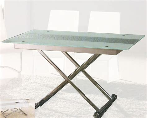 adjustable dining table glass top dining table with adjustable height ol dt04