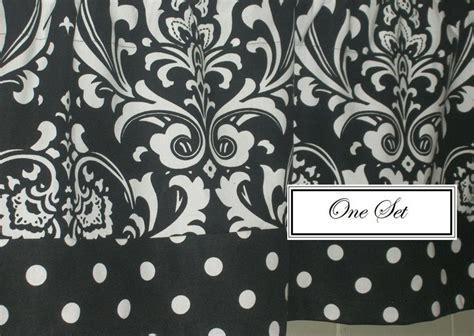 black pattern valance black and white damask pattern with polka dot trim valance