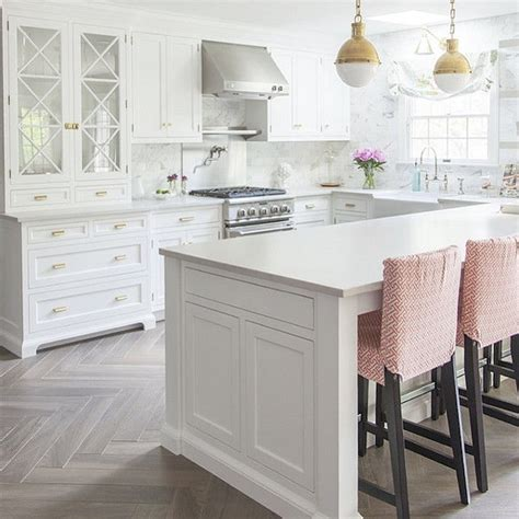 white kitchen floors white kitchen with bleached hardwood flooring in herringbone pattern pictures photos and