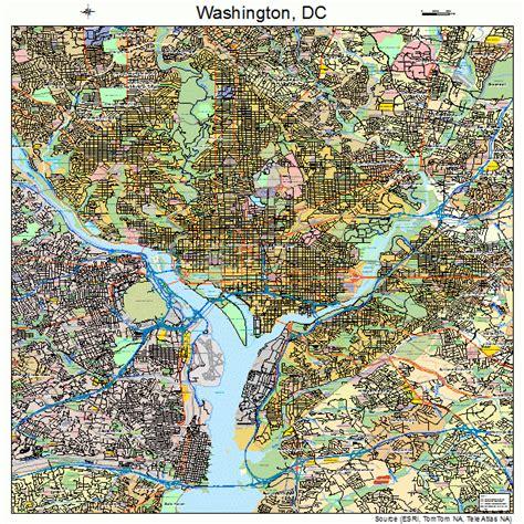 washington dc road map washington district of columbia map 1150000