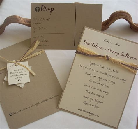 earth themed wedding invitations recycle wedding invitation by this that creations