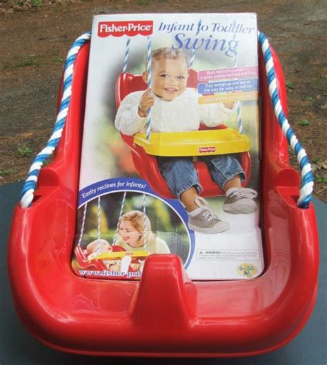 fisher price red swing fisher price swing baby to toddler new unused outdoor