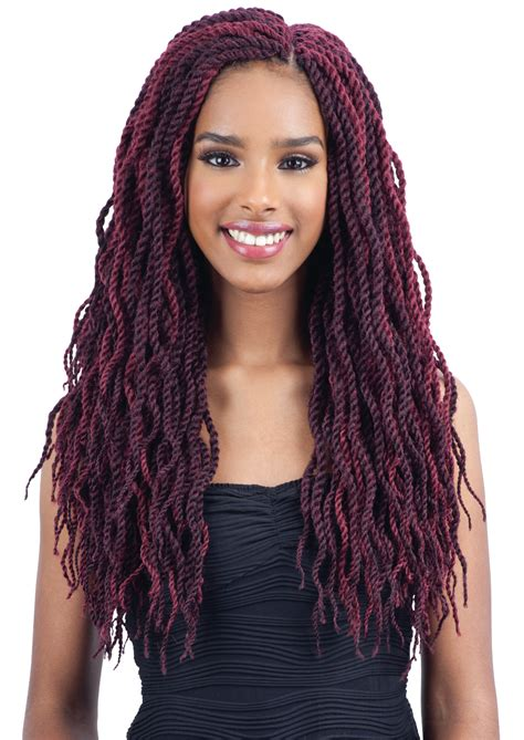 premade synthetic senegalese twist freetress pre looped crochet braid wavy senegalese twist