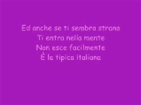 tipica ragazza italiana testo la tipica ragazza italiana testo