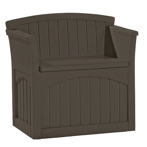 home depot patio storage suncast 31 gal patio storage seat pb2600j the home depot
