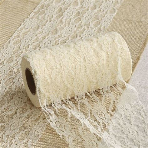 Renda Gelombang Vintage Aneka Warna Per Meter lace roll fabric tulle spool 6 x10y chair bow table