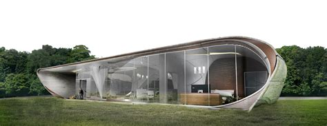 house d watg conceives the world s first freeform 3d printed house