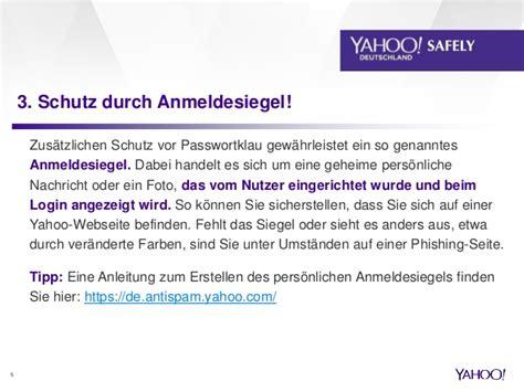 yahoo mail zugangsdaten yahoo sicherheitstipps e mail