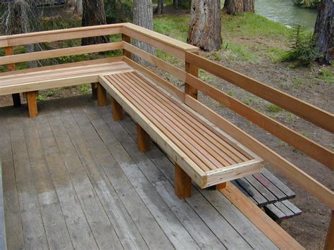 wood deck bench creative deck railing ideas joy studio design gallery